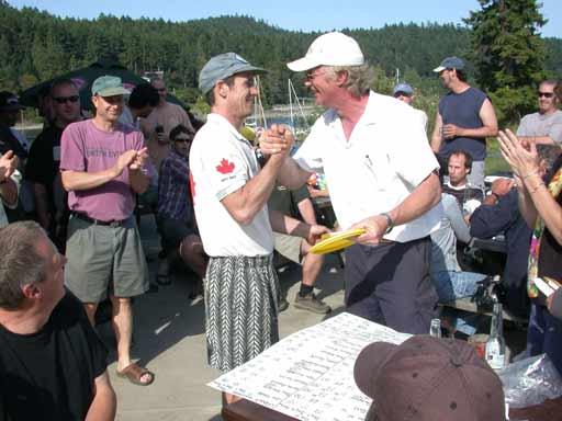 Glen Whitlock winner of the Pro Men's at the Pender Classic.