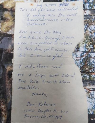 note from a fan
